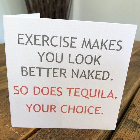 exercise makes you look better naked greeting card
