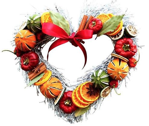 White Fruit Twig Heart