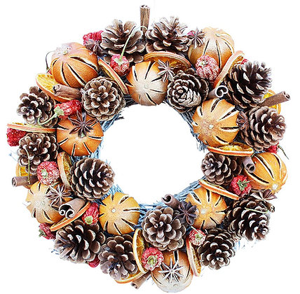 Gold Orange Wreath