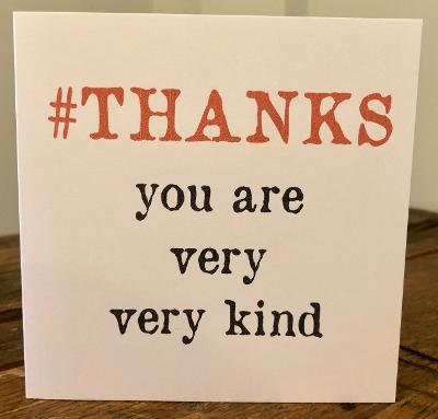 #thanks greeting card