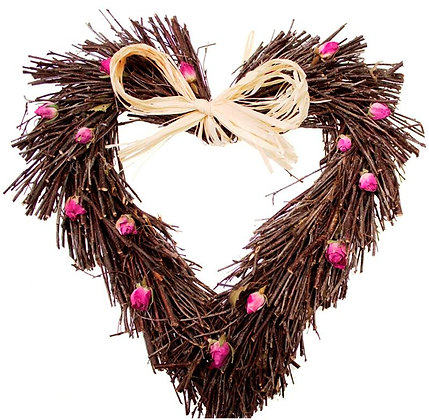 Rose Twig Heart (Available in 3 sizes)