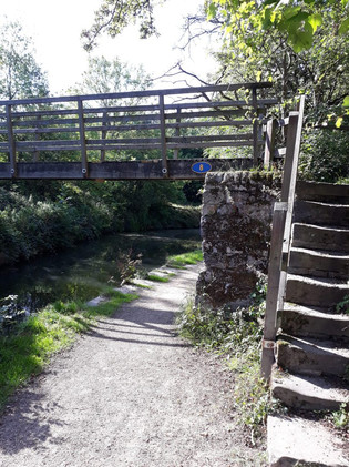 """""""There was a wooden footbridge up ahead by the track that lead to Clough Fold. Suddenly (…) made a dash for it, scrambling up the rough stone steps…"""""""