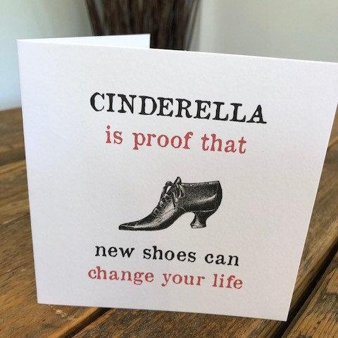 cinderella is proof greeting card