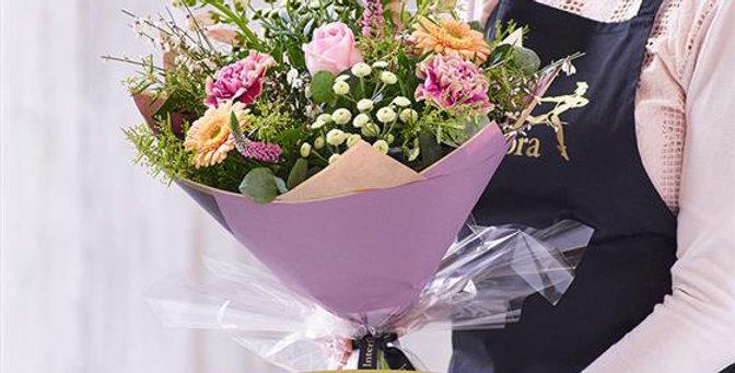 Florist Choice - Hand Tied - Pastels - Medium