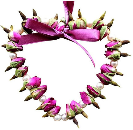 Rose Bud Heart: Pearl Beads