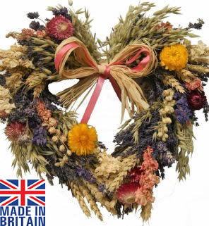 Dried Flower Twig Heart (3 sizes available)