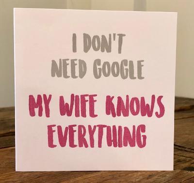 i don't need google greeting card