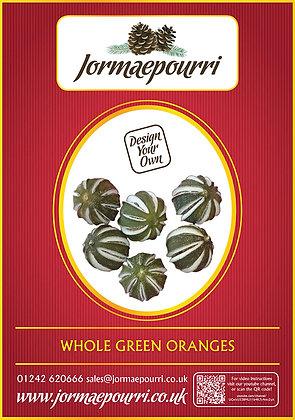 Whole Green Oranges