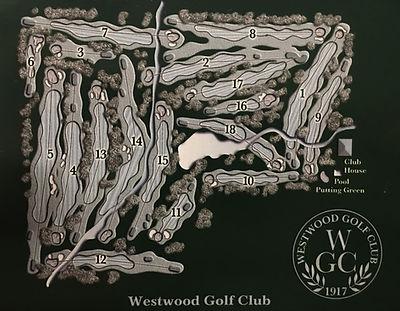 Westwood Golf Club Course Map