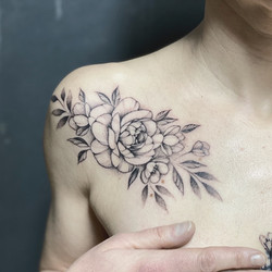 pivoine tattoo