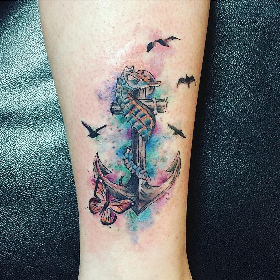 Ancre marine tatouage galerie tatouage - Tatouage ancre marine femme ...