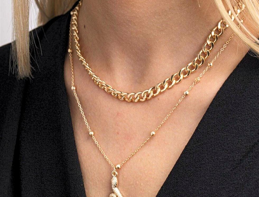 2 Layer Snake Necklace