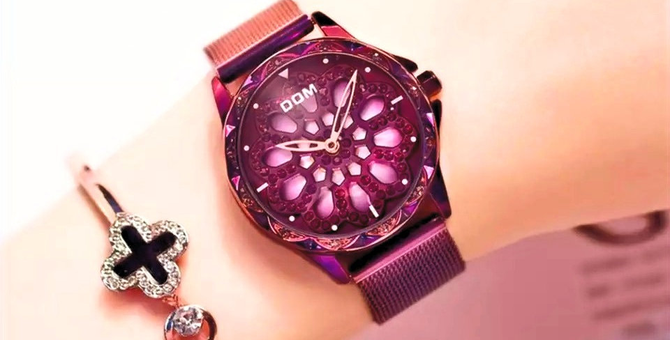 Exclusive Butterfly Watch I Purple