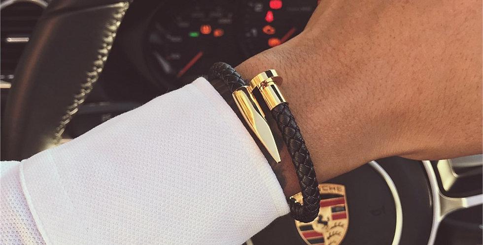 Magnet Leather Bracelet