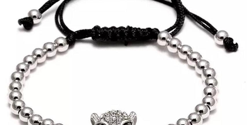 Silver Leopard Zirkon Bracelet