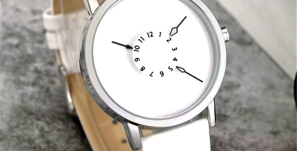 Minimalist Arrow Watch I White