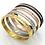 Thumbnail: Diamond Titanium Steel Bracelet I Silver