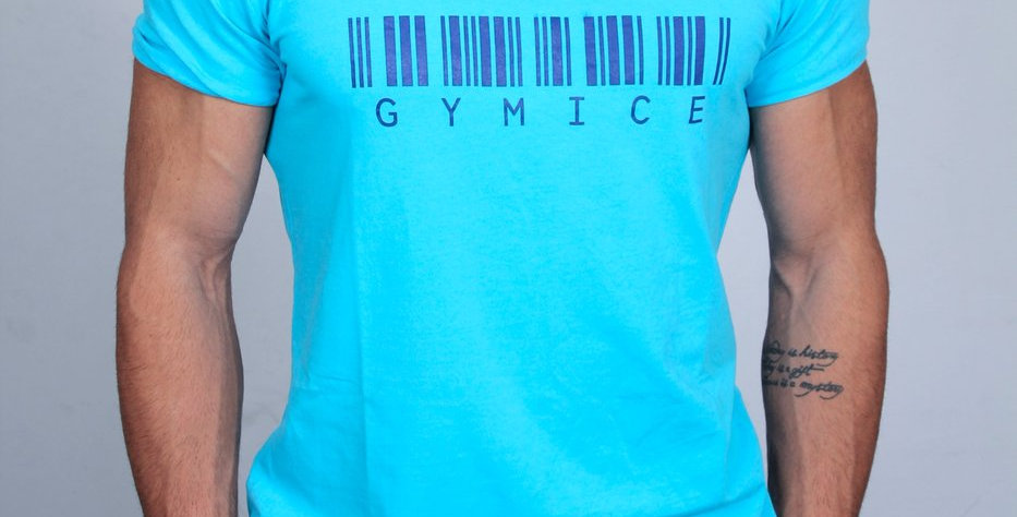 Gymice Barkod Serisi Kısa Kol T-Shirt I Turkuaz