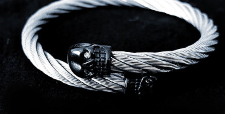 316L SKULL TITANIUM STEEL I SILVER