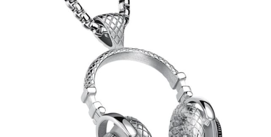 Silver DJ Headphone Necklace