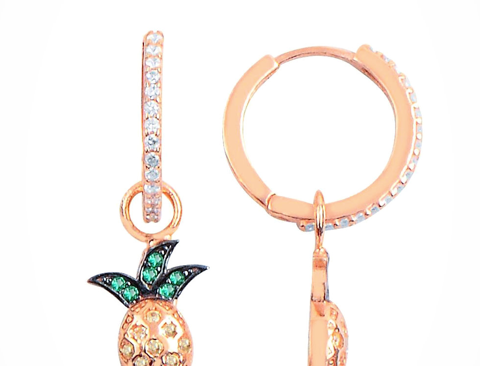 Rose Gold Pineapple Earrings