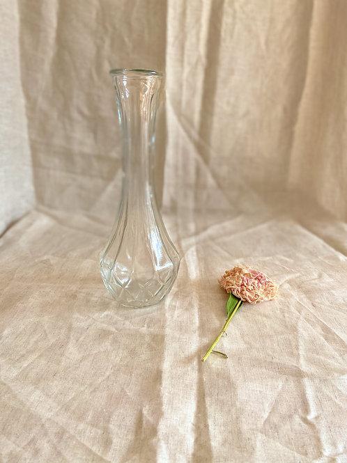 Vase en verre - coupe diamant