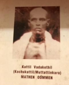 Founder of Kochukattil Family - Mathew O