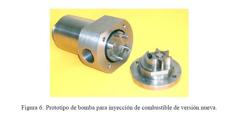 Figura 6. Prototipo de bomba para inyección de combustible de versión nueva.