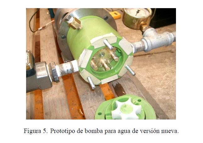 Figura 5. Prototipo de bomba para agua de versión nueva.