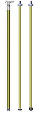 Pértiga sección única con cabezal universal