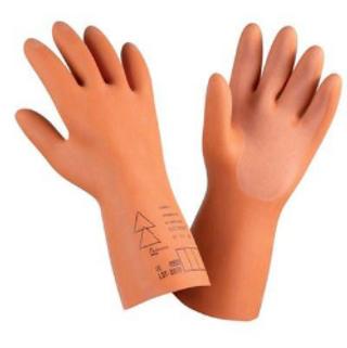 Guantes para electricista, estos guantes están probados a 30,000 volts protegen a las manos de los electricistas.