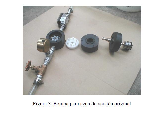Figura 3. Bomba para agua de versión original