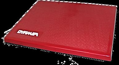 Tarima aislante de poliester reforzada de fibra de vidrio color rojo