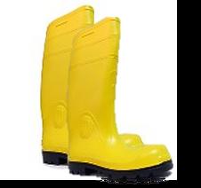 Protección para los pies de descargas eléctricas, libres de piezas metálicas.