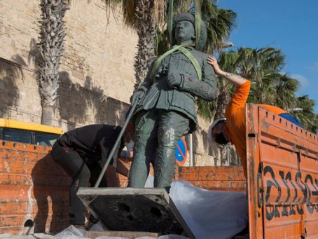Last statue of dictator Franco removed in 'historic day' for Spain