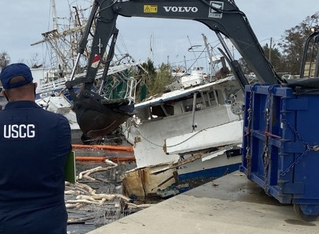 USCG Cleans Up Wrecked and Sunken Vessels after Hurricane Sally