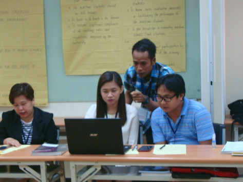 IMMAJ-PJMCC FOUNDATION, INC. CONDUCTS IMO MODEL COURSE 6.09  TRAINING FOR INSTRUCTORS FOR PAMI MEMB