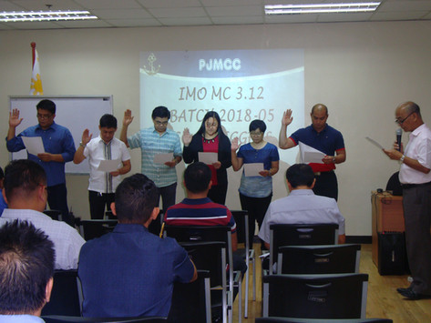 NEW ASSESSORS GRADUATE FROM IMMAJ-PJMCC IMO MODEL COURSE 3.12
