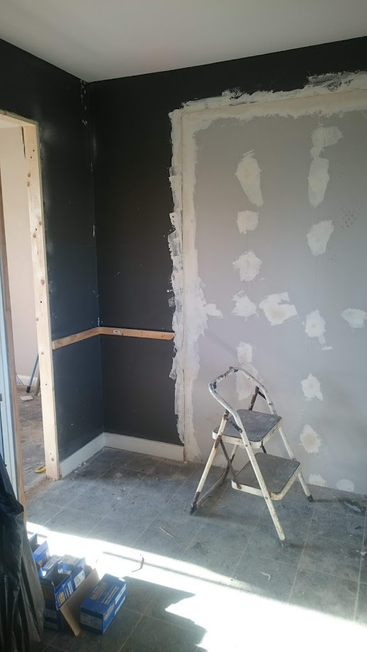 The Kitchen being boarded up into a sepa
