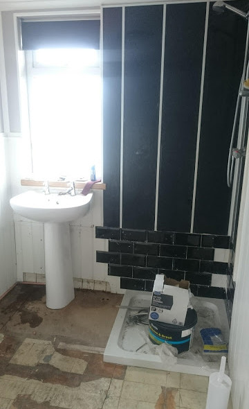 Bath removed...shower in!