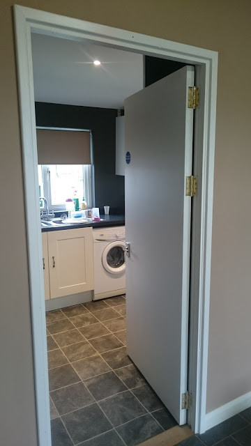 Our finished Kitchen space and new door
