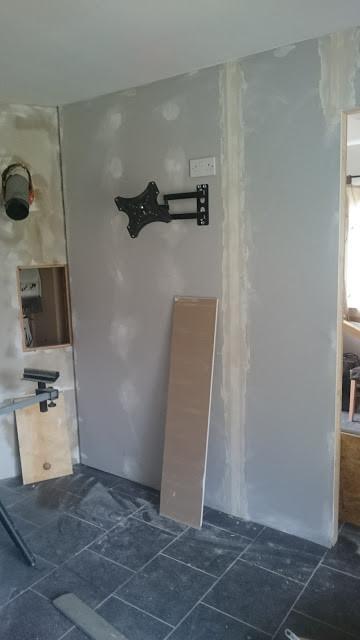 Our split room part way through