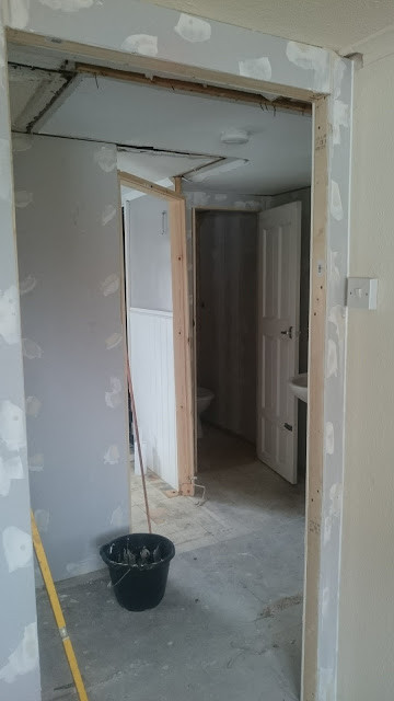 A widened hallway and new doors!