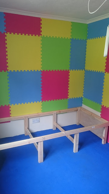 Part way through with our sensory room