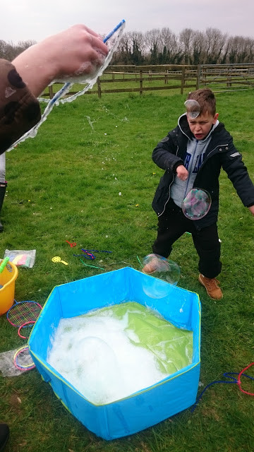 Attempts at oversize bubble fun!