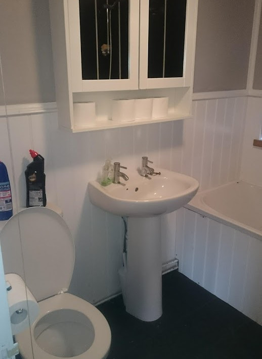 The 'old bathroom' before converted to a