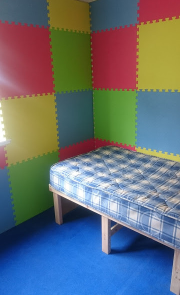 Partly completed sensory room and rest a