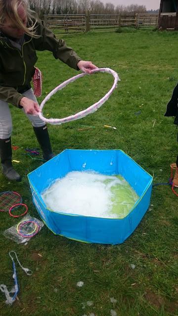 Hula hoop bubbles!