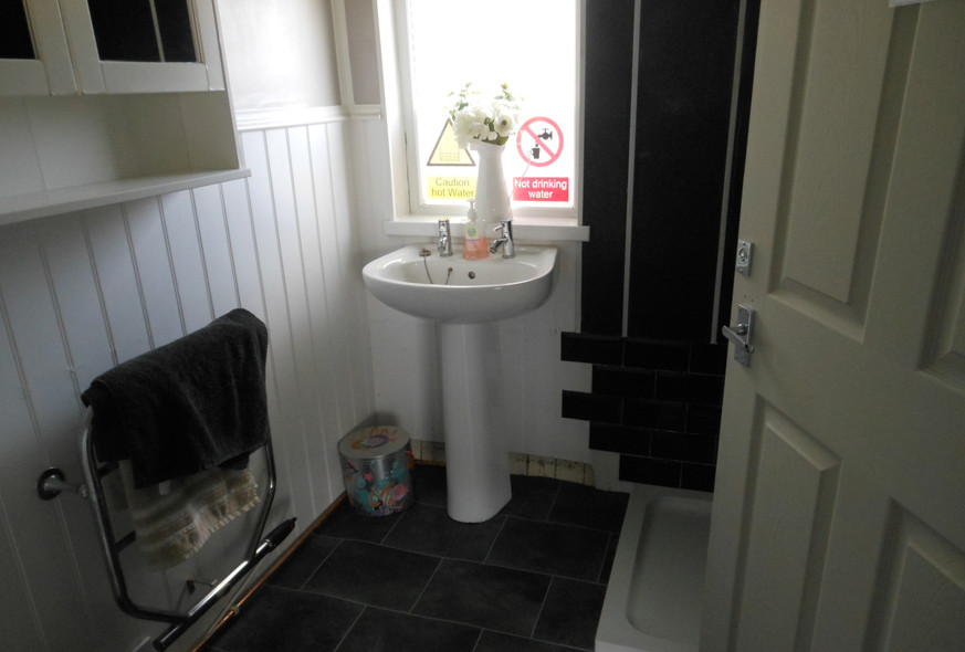 A finished toilet and shower room