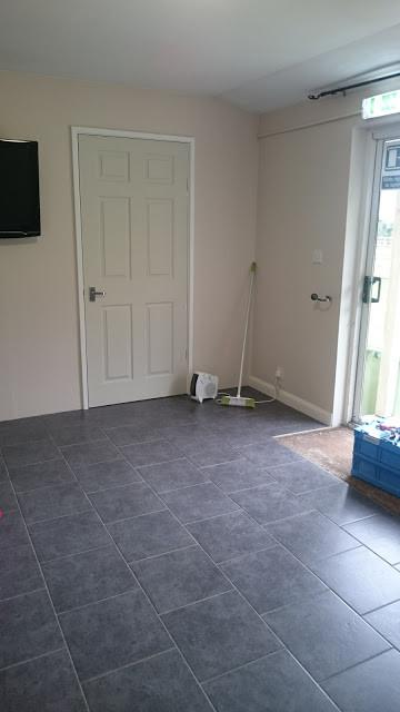 Our split room complete